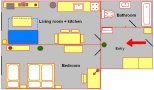 Apartment Wenceslas Square Prague Floor plan
