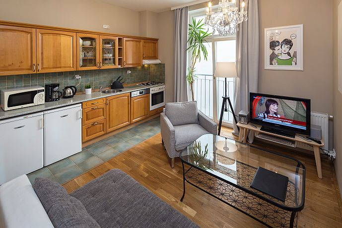 Appartment prague wenceslas square your apartments for The living room 002