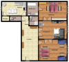 Prague Templova Apartment Floor plan