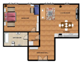 Enjoy your stay Prague Smíchov Floor plan