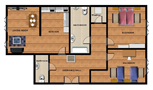 Holiday apartment in Prague 5 Floor plan