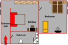 Accommodation in Prague 5 Floor plan