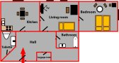 Pleasant accommodation Prague Vinohrady Floor plan