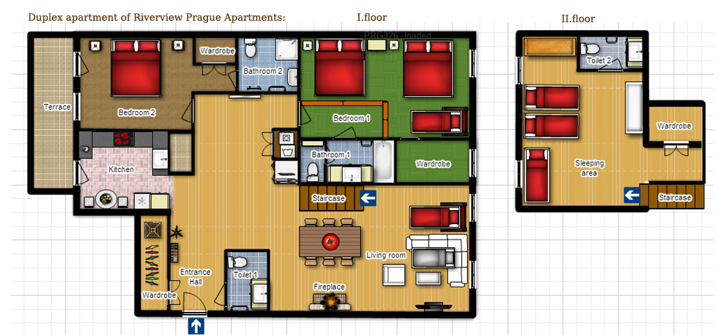 Duplex riverview apartment for Duplex apartment floor plans