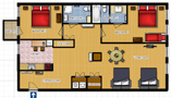 Your Apartments - Riverview Apartment 7 Floor plan