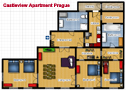 Castleview Apartment in Prague Floor plan