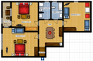 Villa Arcadia - Apartment Prague Floor plan