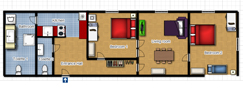 Your Apartments - Vltava Apartment 2 Floor plan